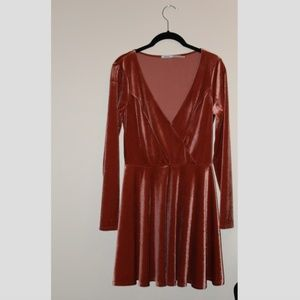 velvet long sleeve dress from Urban Outfitters